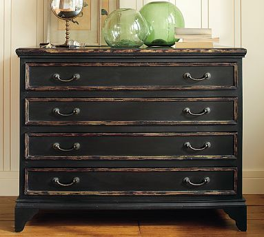 Destressed Black Dresser